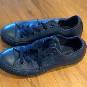 Men's Leather Converse Navy Great Condition